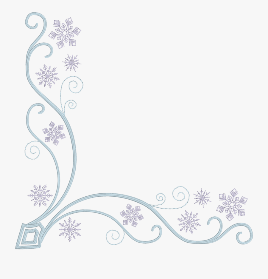 Collection Of Free Snowflakes - Snowflake Corner Png, Transparent Clipart