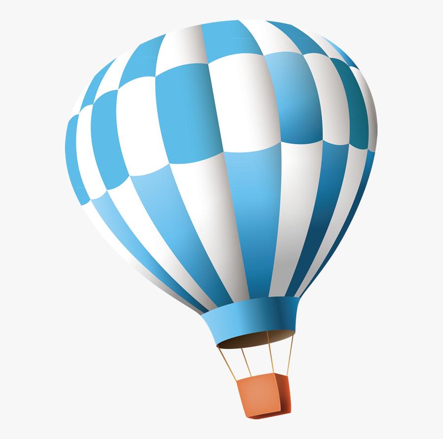 Hot Air Balloon Clip Art - Blue Hot Air Balloon Png, Transparent Clipart