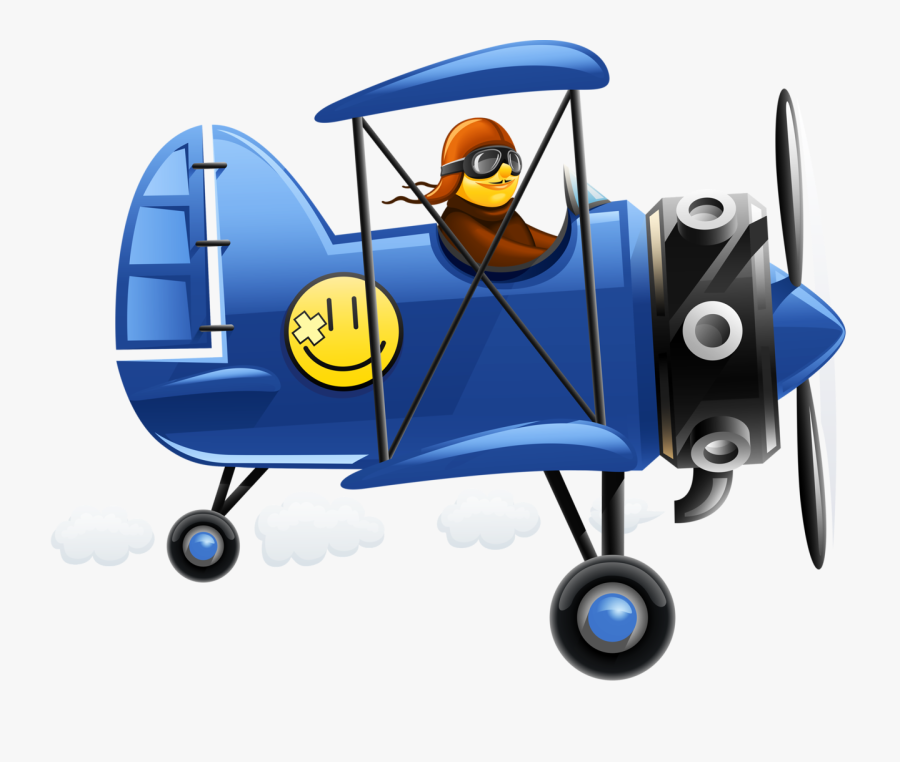 Transparent Cartoon Airplane Png Funny Pilot Clipart Free