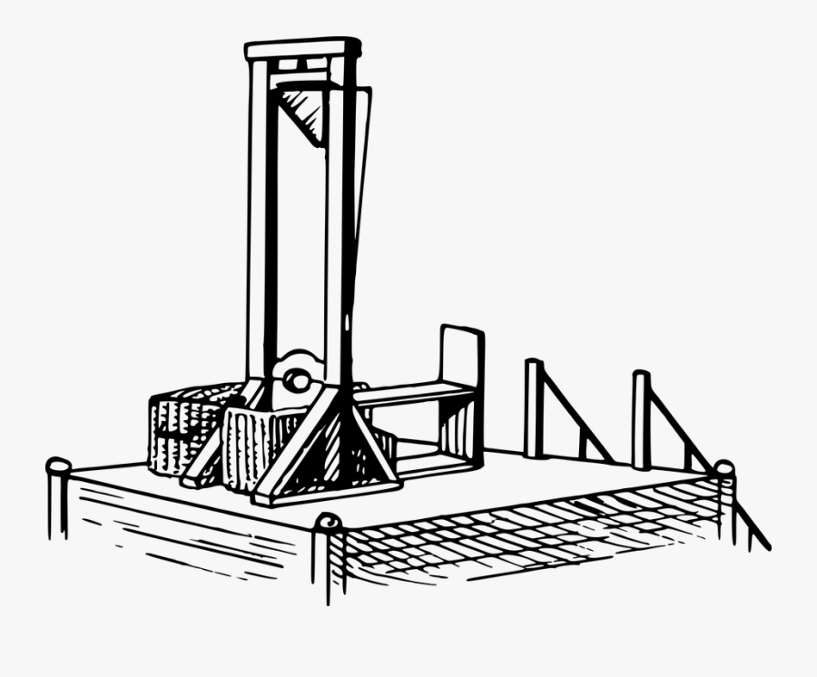 Behead, Beheading, Blade, Execution, France, French - Guillotine French Revolution Drawing, Transparent Clipart