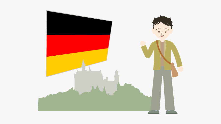 Traveling Clipart Study Abroad - ドイツ 留学 イラスト, Transparent Clipart