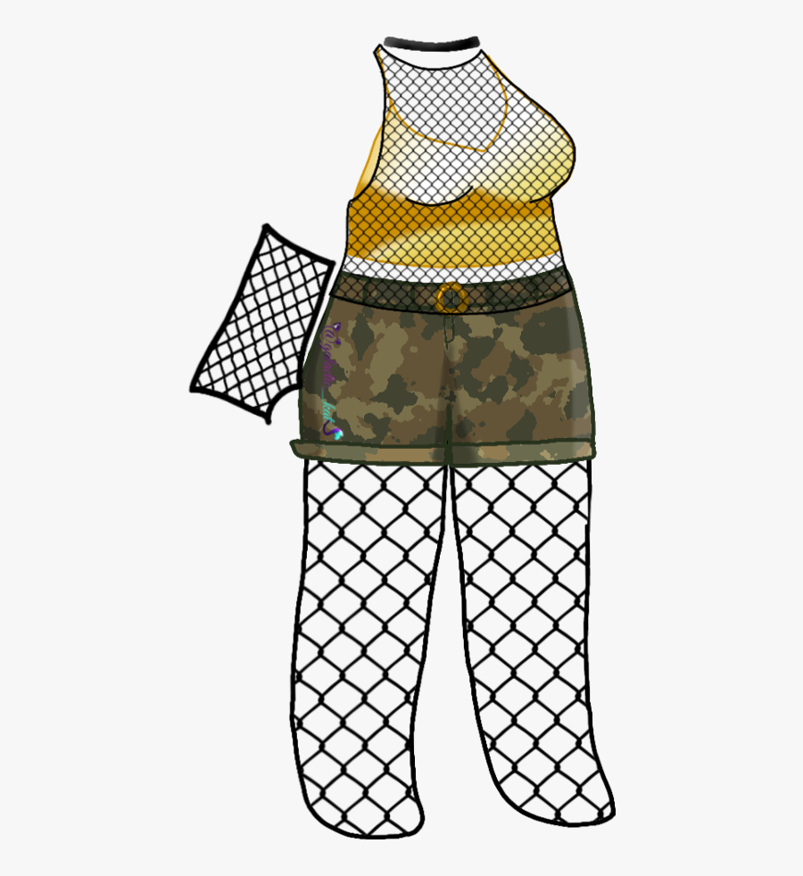Camo Gold Outfit Gacha Gachalife Freetoedit - Gacha Life Pants Edits, Transparent Clipart