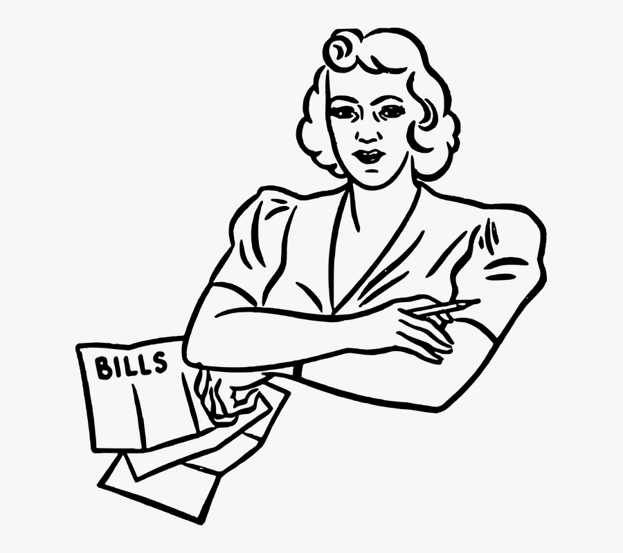 Bills To Pay Clip Art Black And White, Transparent Clipart