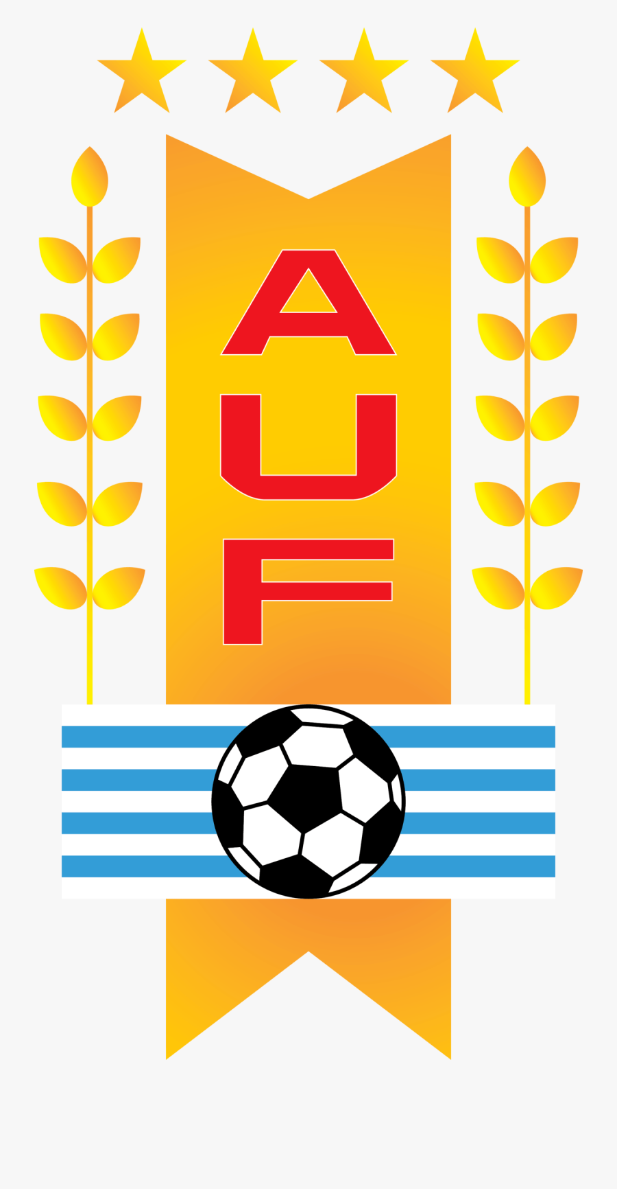 Uruguayan Football Association & Uruguay National Team - Uruguay Football Team Logo Png, Transparent Clipart