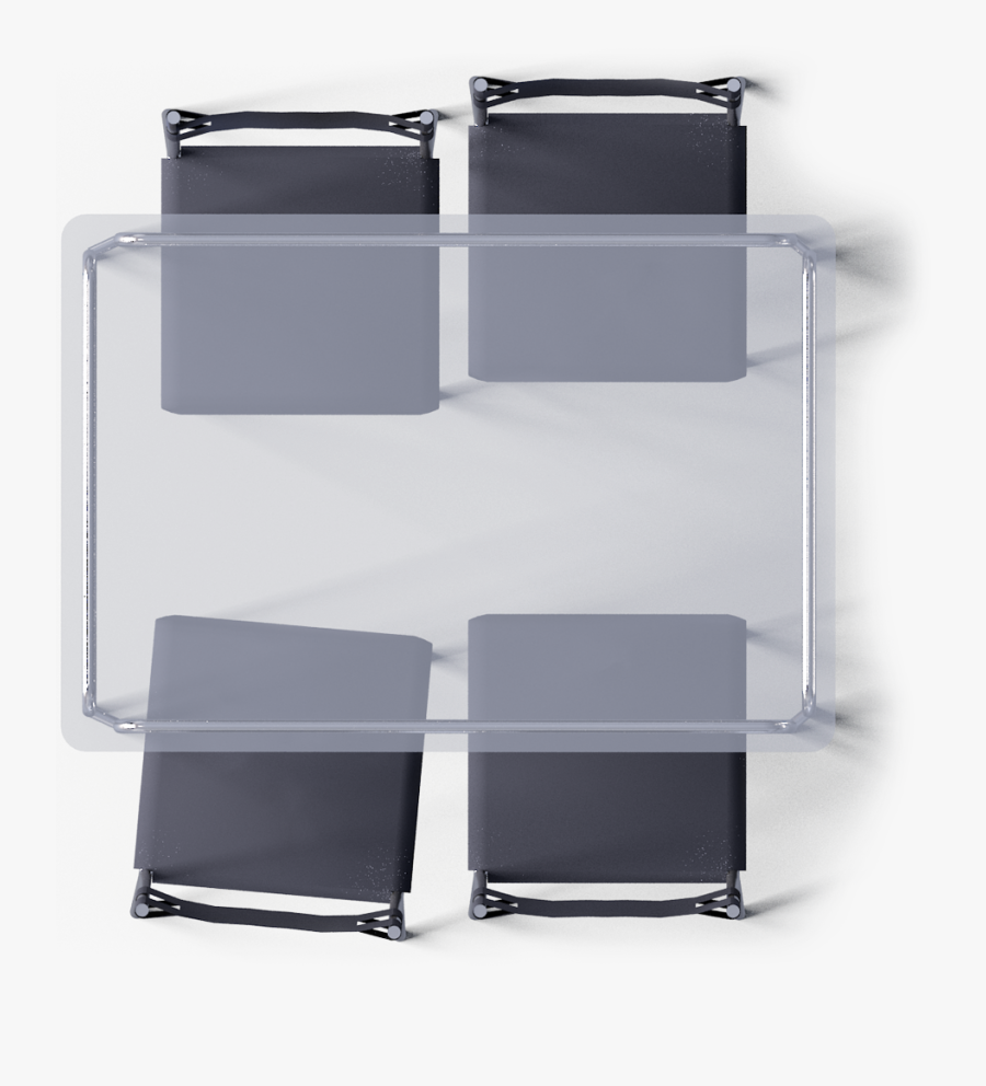 Chair Top View Png -laver Table And 4 Chairs Top - Glass Dining Table Top View, Transparent Clipart