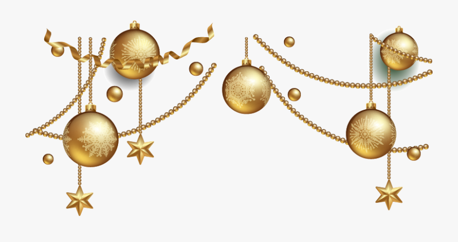 #gold #party #ornaments #hangingdecorations #swirls - Gold Christmas Ornaments Png, Transparent Clipart