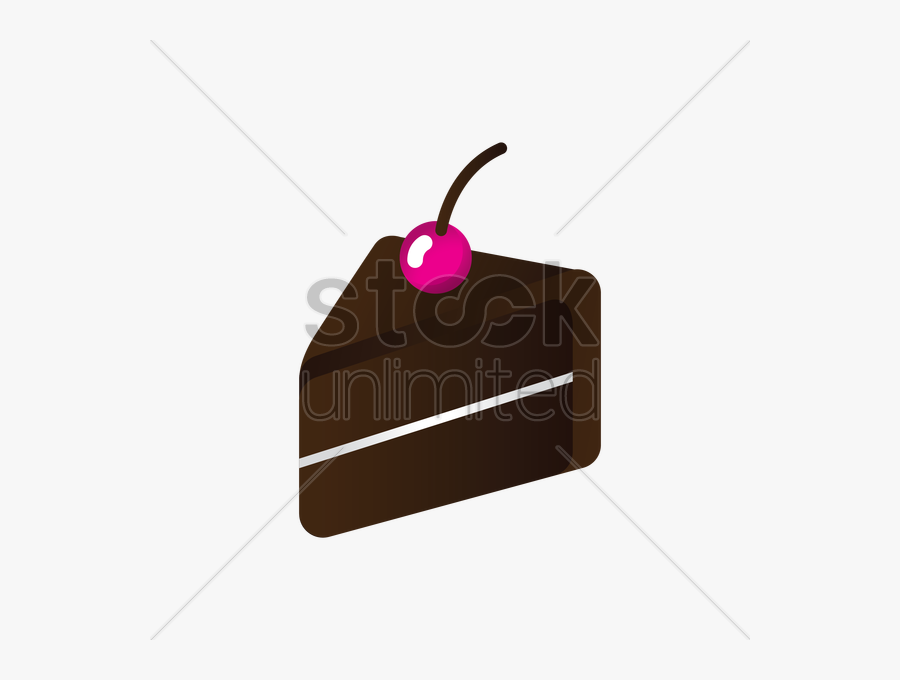 Slice Of Chocolate Cake Clipart, Transparent Clipart