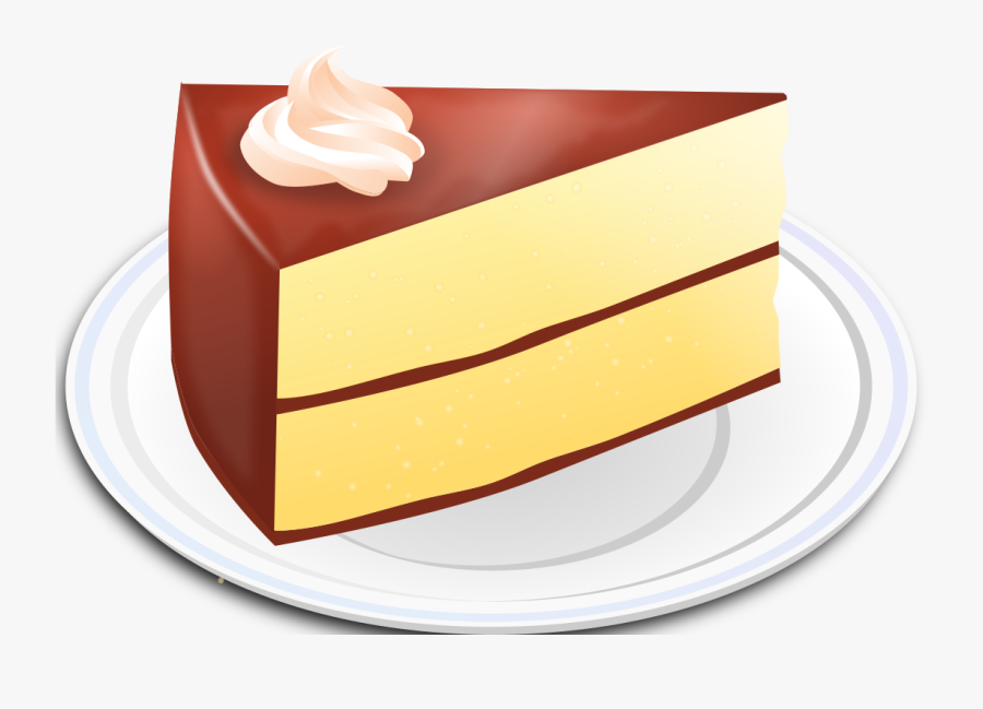Vanilla Cake With Chocolate Frosting Clip Art, Transparent Clipart