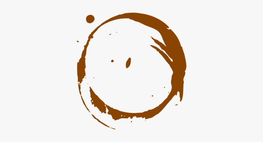Stain, Coffee, Coffee Stains, Footprint, Sign, Brown - Circle Wang Zi Ying, Transparent Clipart