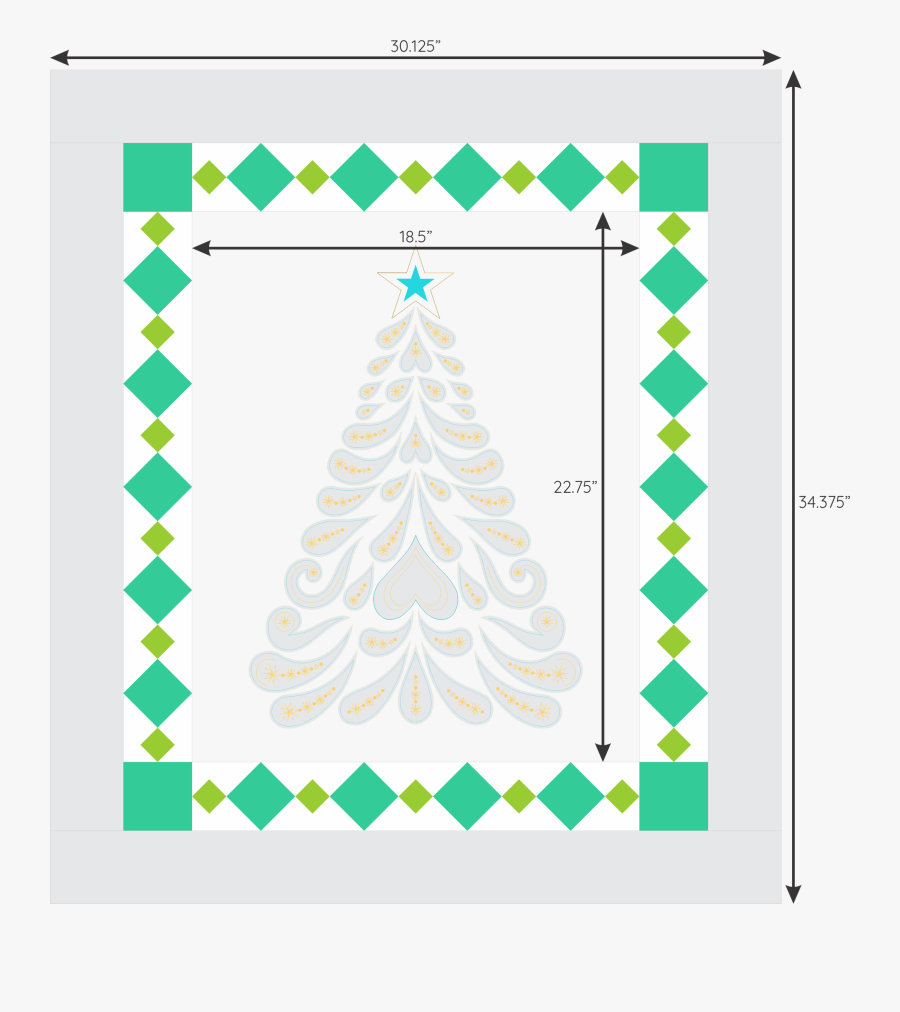 How To Make A Diamond Border For A Quilt • Meaning - Christmas Tree, Transparent Clipart