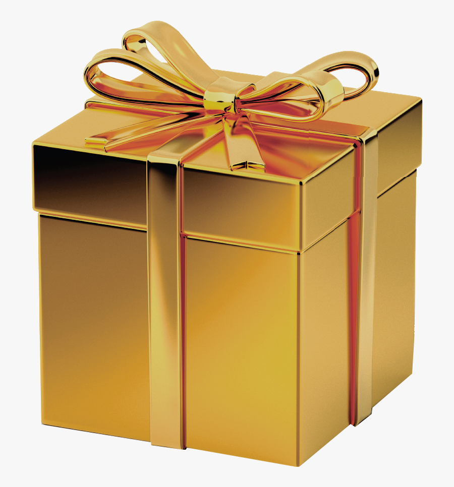 Red Gift Box Transparent - Transparent Background Gold Gift Box, Transparent Clipart