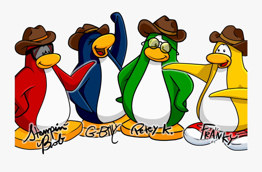 Transparent Penguin Couple Clipart - Penguin Band Club Penguin Rewritten, Transparent Clipart