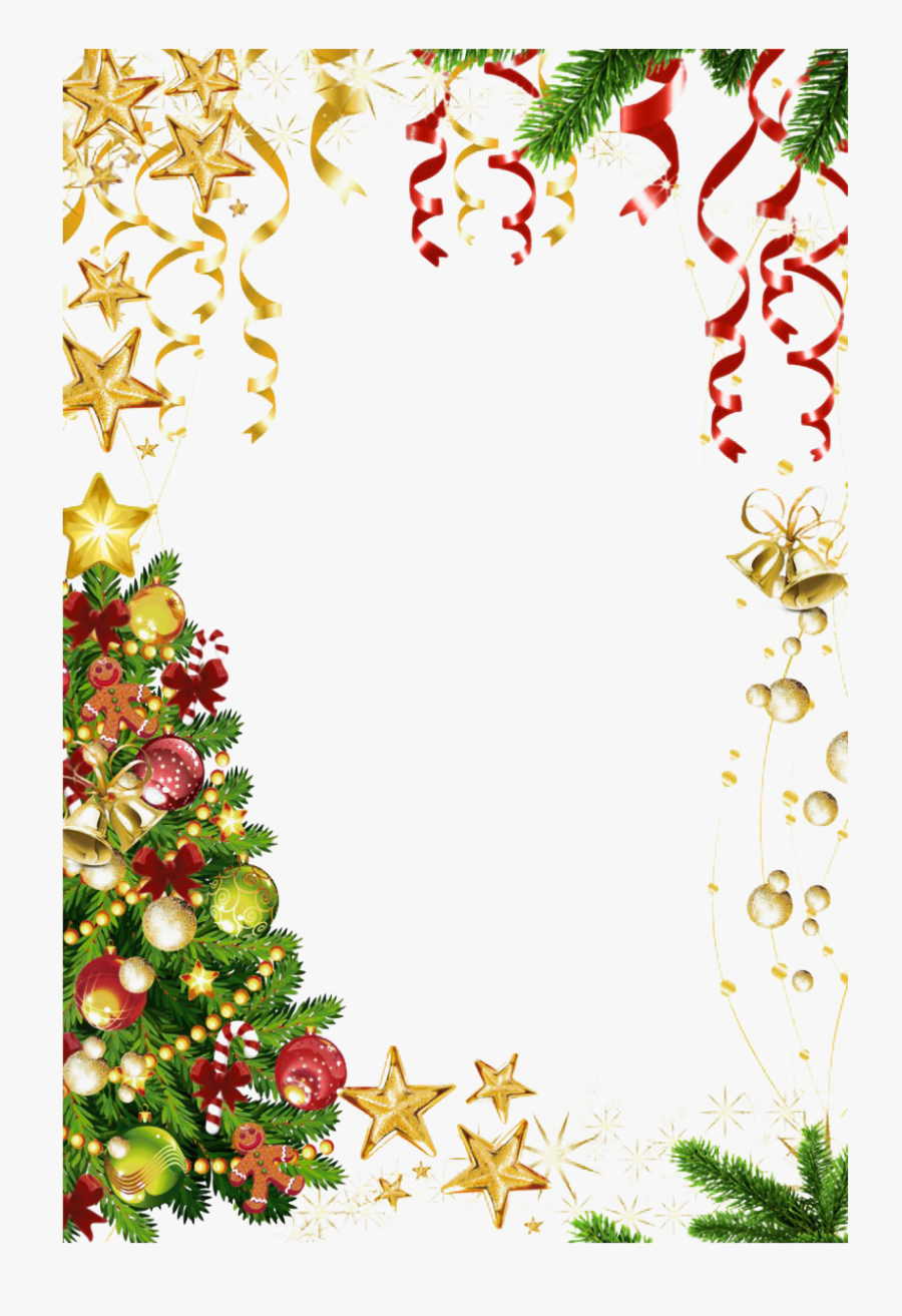 Square Christmas Frame Png Hd - Christmas Borders, Transparent Clipart