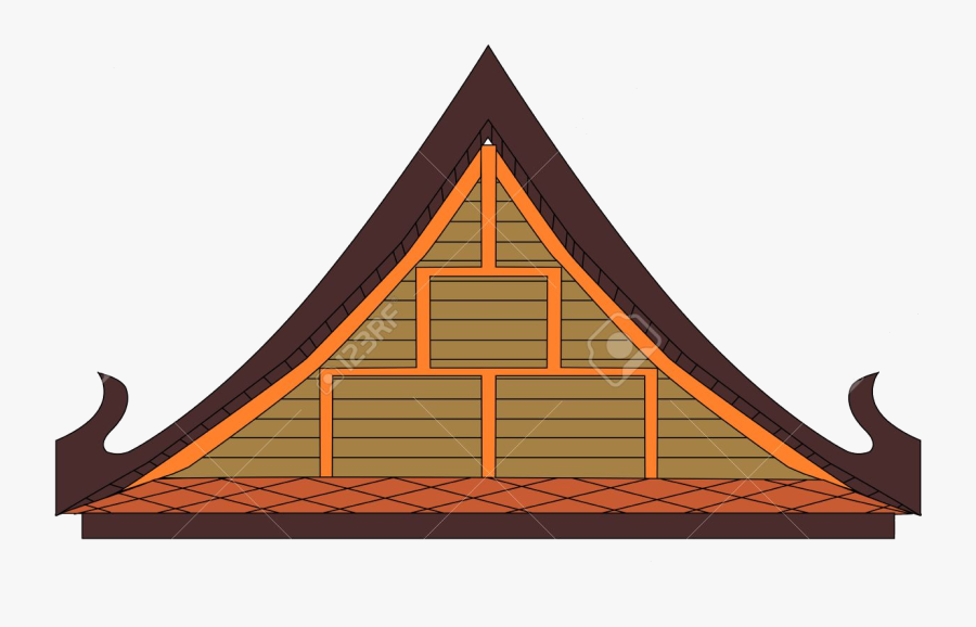 Roof Clipart At Free For Personal Use Transparent Png - Thai House Vector, Transparent Clipart