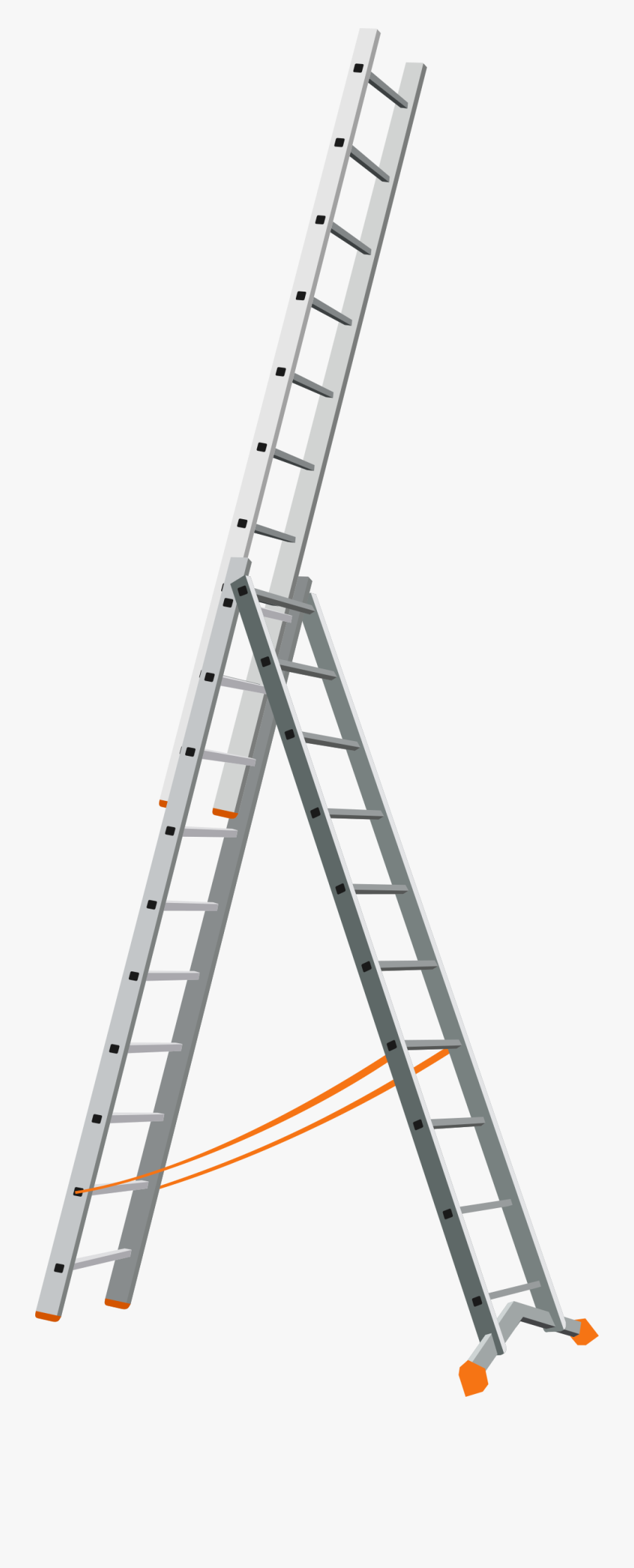 Man Clipart Ladder - Stairs Movable, Transparent Clipart