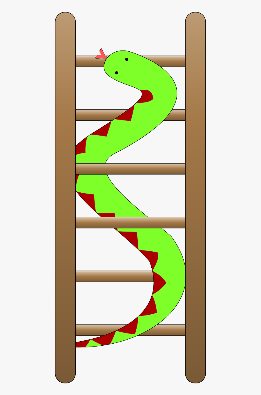 Snake Ladder Green Free Photo - Snakes And Ladders Clipart, Transparent Clipart