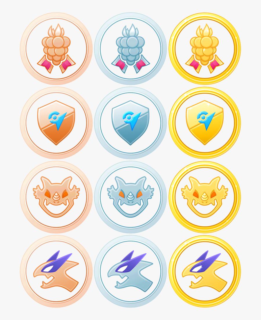Pokemon Go New Medals, Transparent Clipart