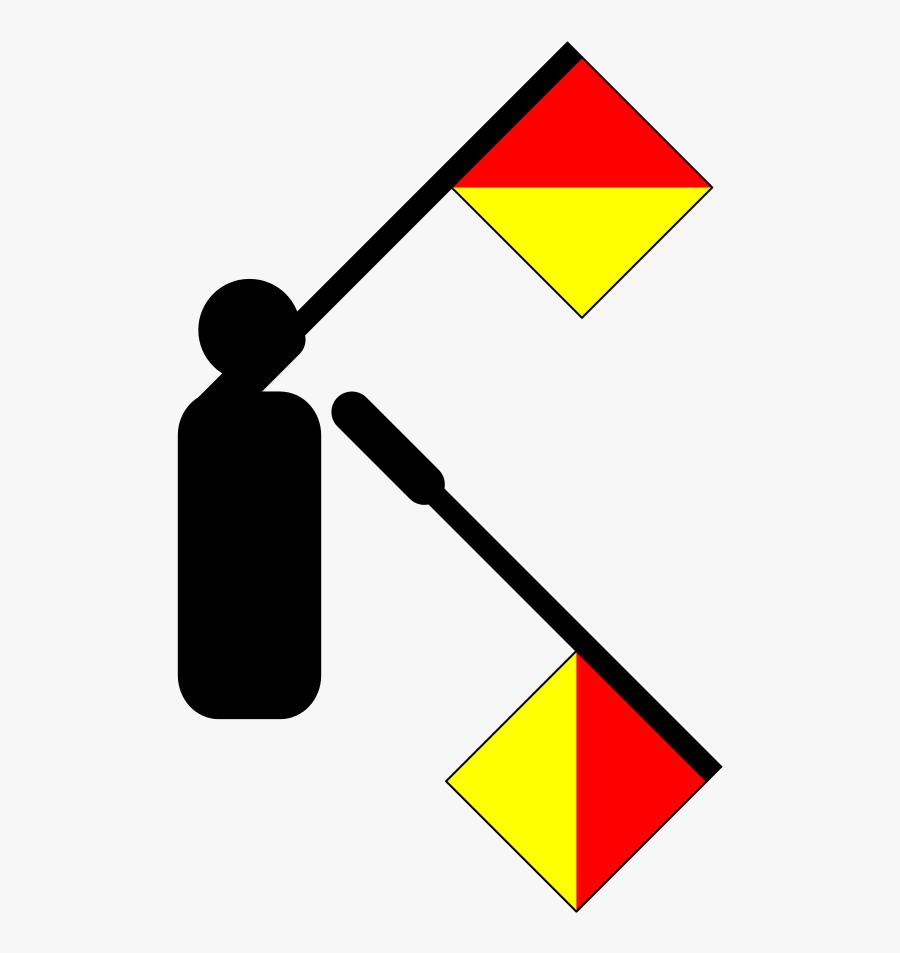 Semaphore Flag Letter G, Transparent Clipart