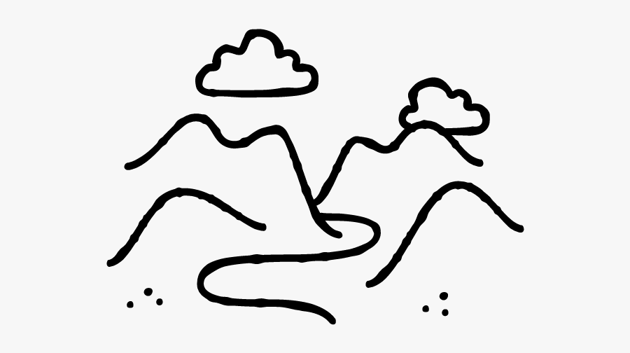 Mountains-03 - Line Art, Transparent Clipart
