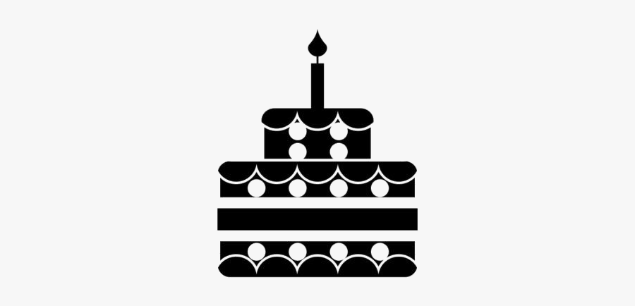 Transparent Two Layer Birthday Cake Clipart Image - Birthday Cake Silhouette Png, Transparent Clipart