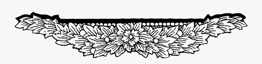 Clip Art Digital Stamp Design Floral - Floral Border Design Png, Transparent Clipart