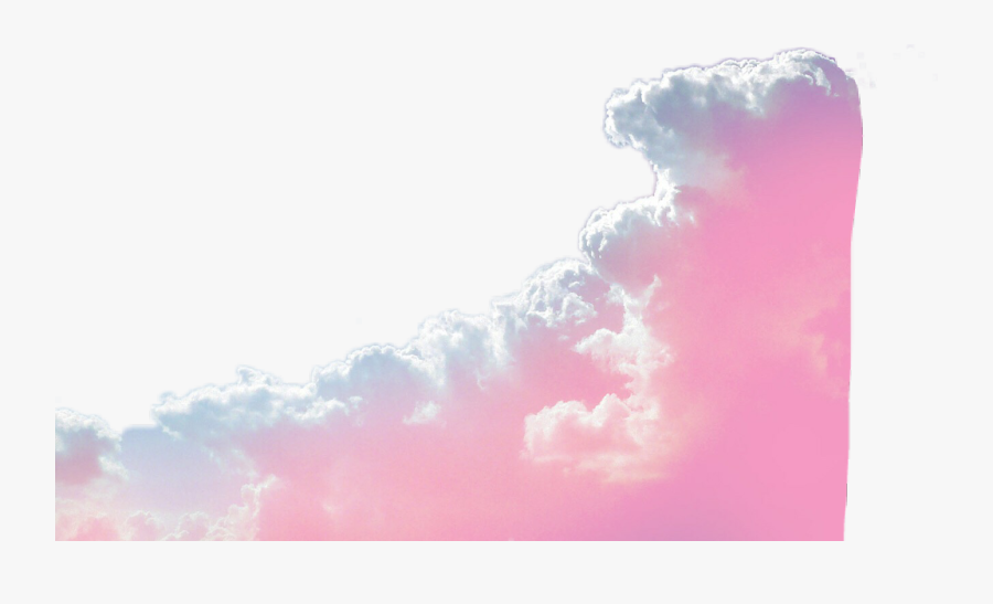#border #edge #pink #aesthetic #pastel #clouds #sky - Aesthetic Pastel Border Png, Transparent Clipart