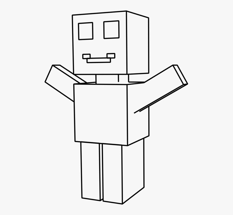 Line Art,square,angle - Square Hand Robot, Transparent Clipart