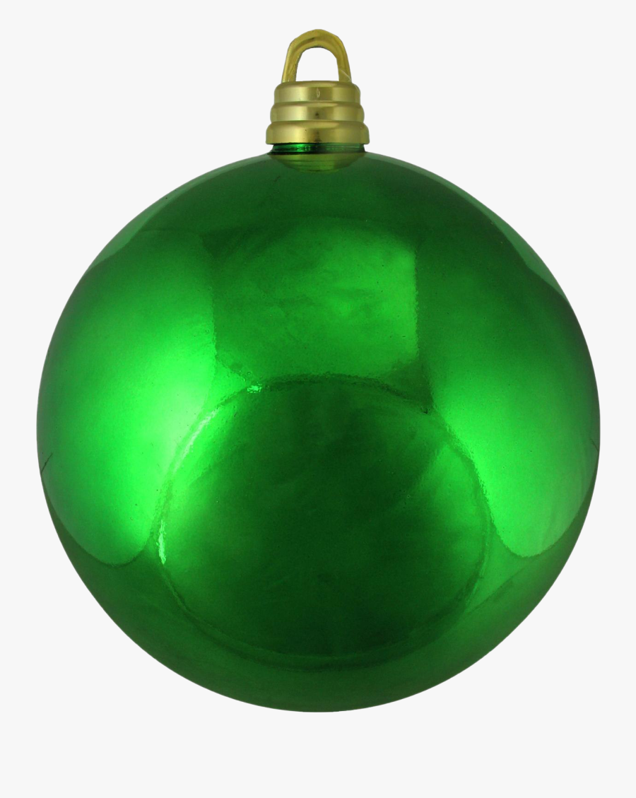 Single Green Christmas Ball Png Clipart - Christmas Decorations Green Christmas Balls, Transparent Clipart