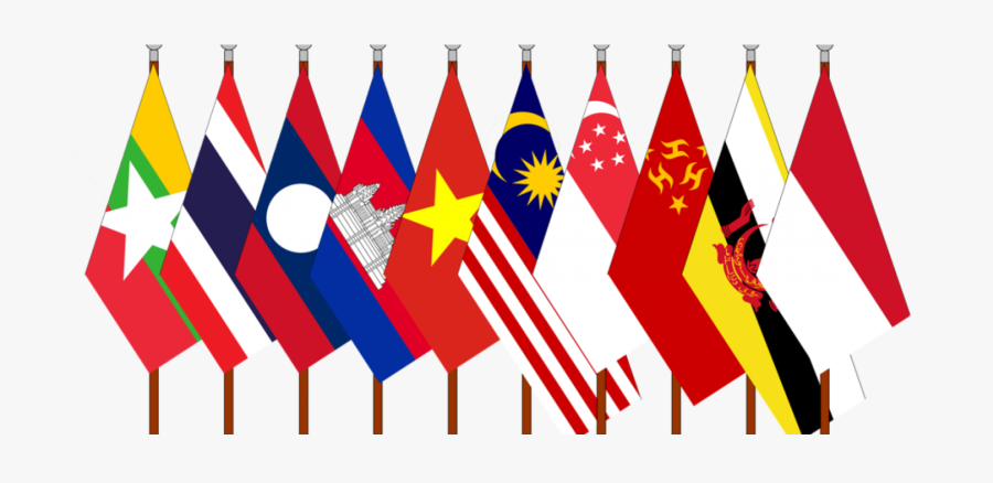 The Dialogue India Asean - Southeast Asia Flags Png, Transparent Clipart