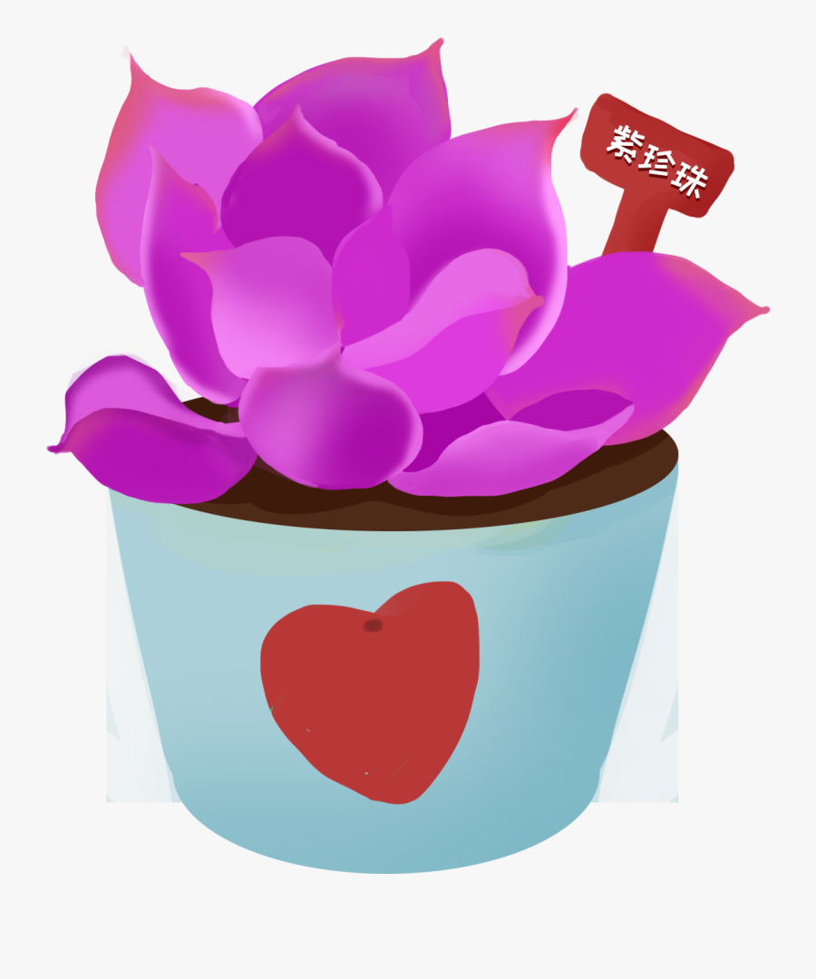 Potted Fleshy Plants Hand Painted Png And Psd - กระถาง ต้นไม้ การ์ตูน Png, Transparent Clipart