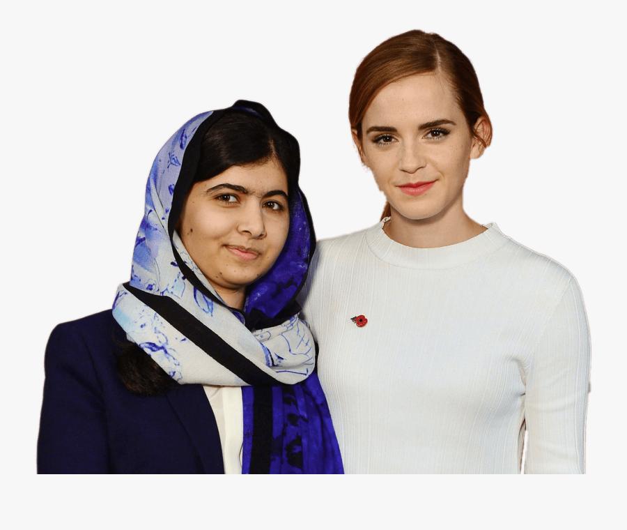 Malala Yousafzai And Emma Watson - Malala And Emma Watson, Transparent Clipart