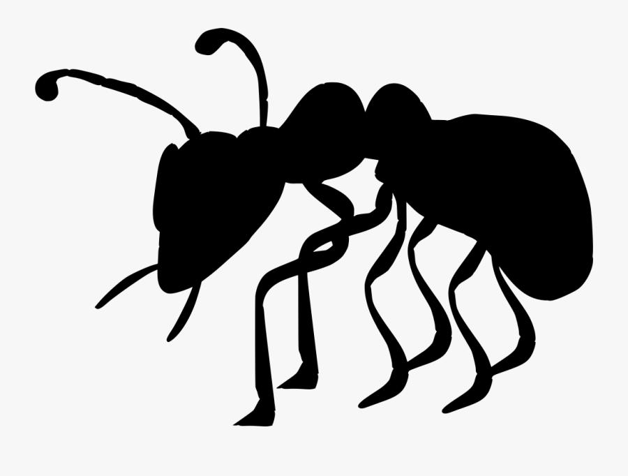 Black Ant Ant Cartoon, Transparent Clipart