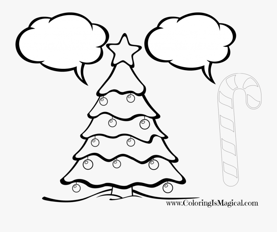 Christmas Tree Colouring By Number Clipart Png Download - Christmas Tree Coloring Pages, Transparent Clipart