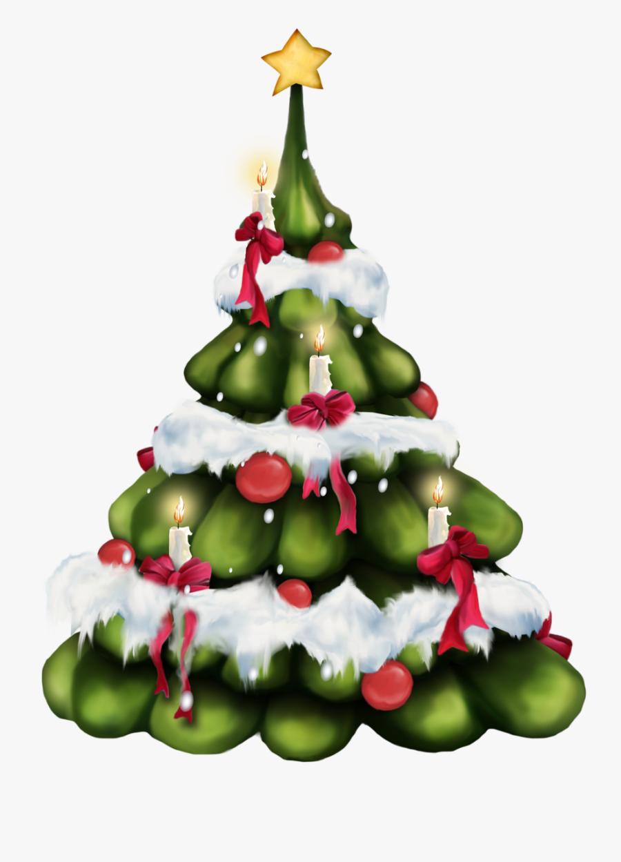 Xmas Tree, Christmas Tree With Presents, Merry Christmas - Новогодние Клипарты Пнг, Transparent Clipart