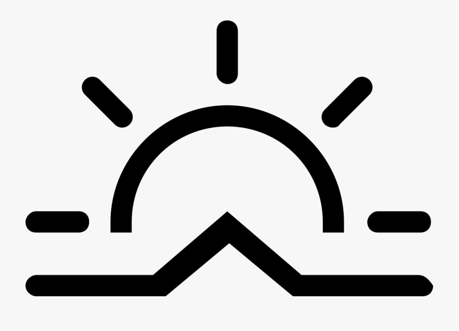Stroke Weather Symbol Png Clipart , Png Download - Sun Path Icon Png, Transparent Clipart