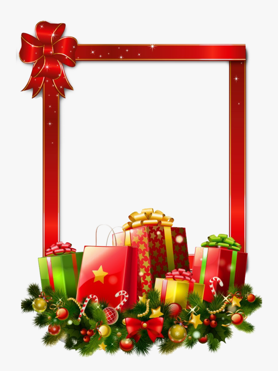 Square Christmas Frame Png Image - Transparent Background Christmas Borders, Transparent Clipart