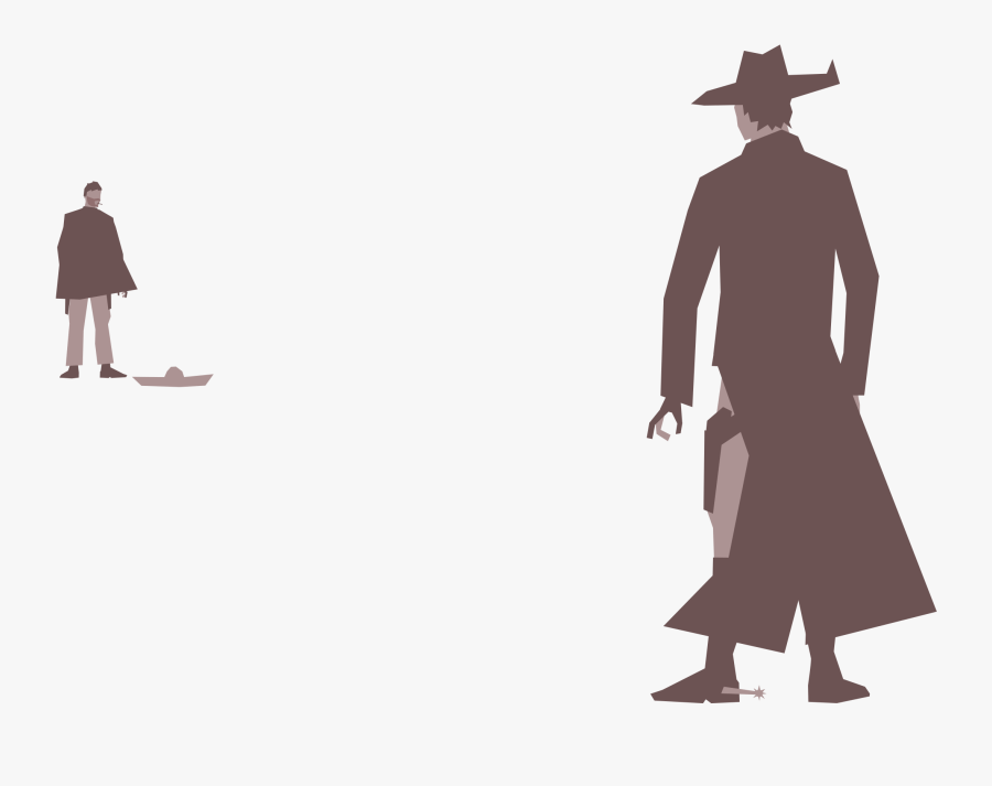 Duel - High Noon Western Showdown, Transparent Clipart