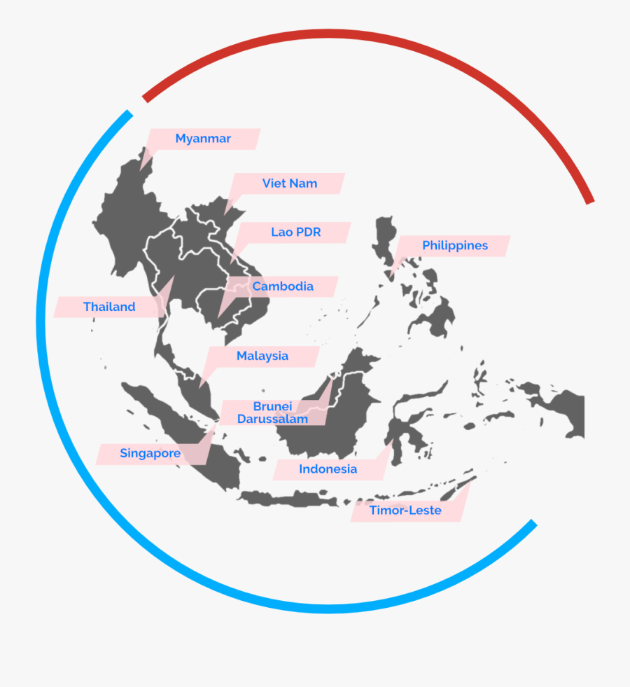 Countries In South East Asia , Transparent Cartoons - Southeast Asia Map Icon, Transparent Clipart