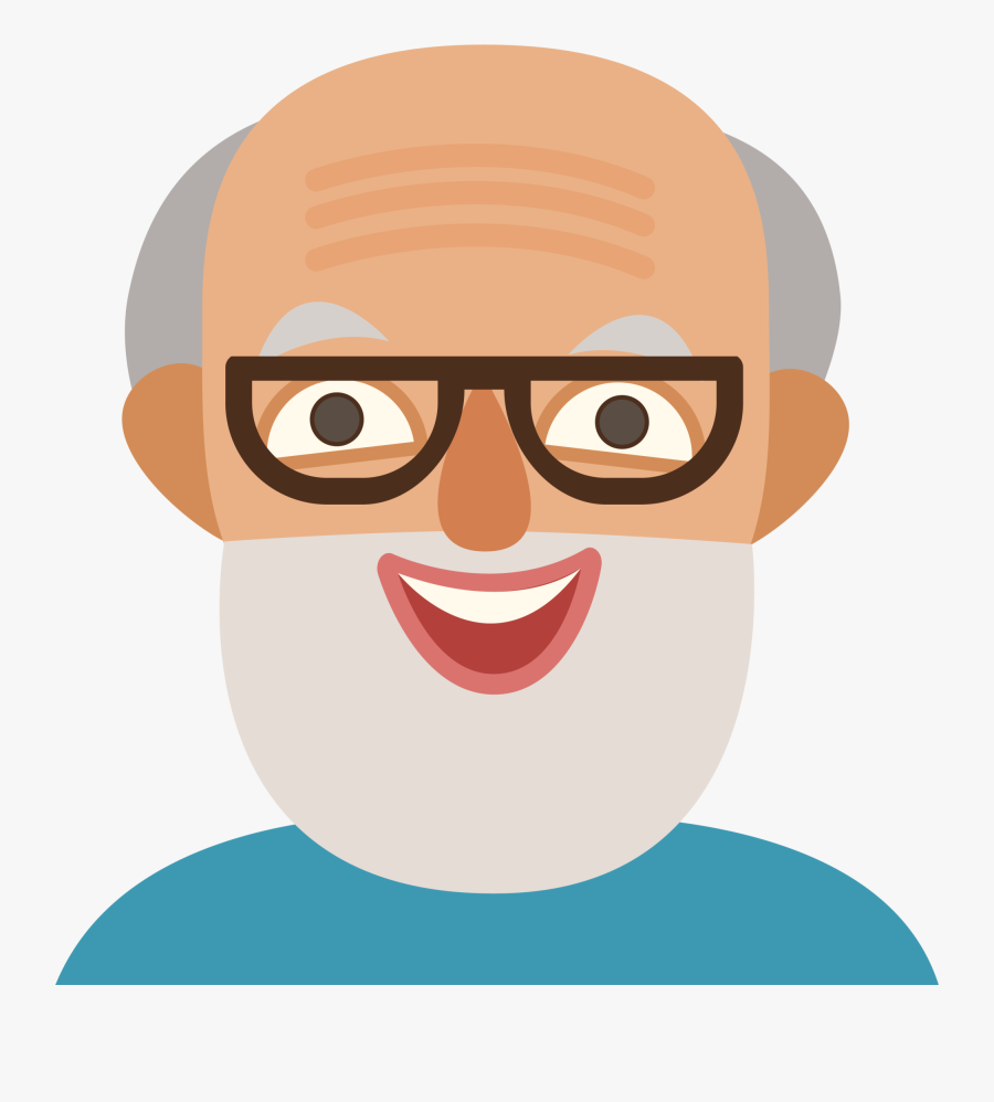 Photographer Clipart Long Hair Man - Old Man Cartoon Face, Transparent Clipart