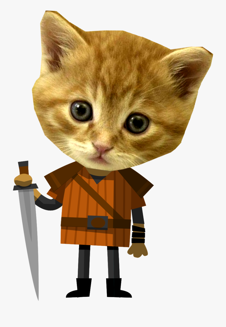 Cat,small To Medium Sized Short Haired Cat,clip Art - Medieval Kitten, Transparent Clipart