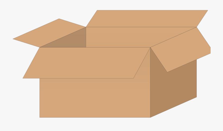 Clip Art Open Cardboard Box Clipart - Open Cardboard Box Clipart, Transparent Clipart