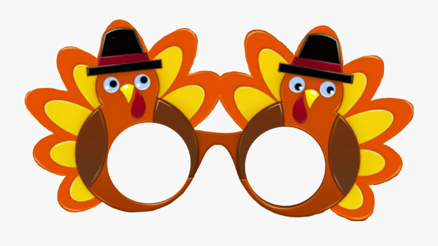 #november #turkey #glasses #thanksgiving #thanksgivingday - Glasses Props Cartoon, Transparent Clipart