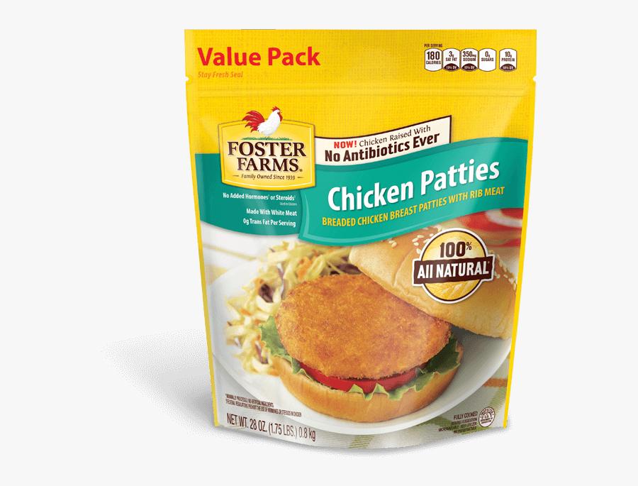 Chicken Patties - Foster Farms Chicken Patties, Transparent Clipart
