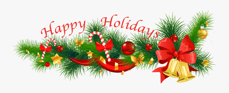 Happy Holidays - Christmas Decoration For Leaflet, Transparent Clipart