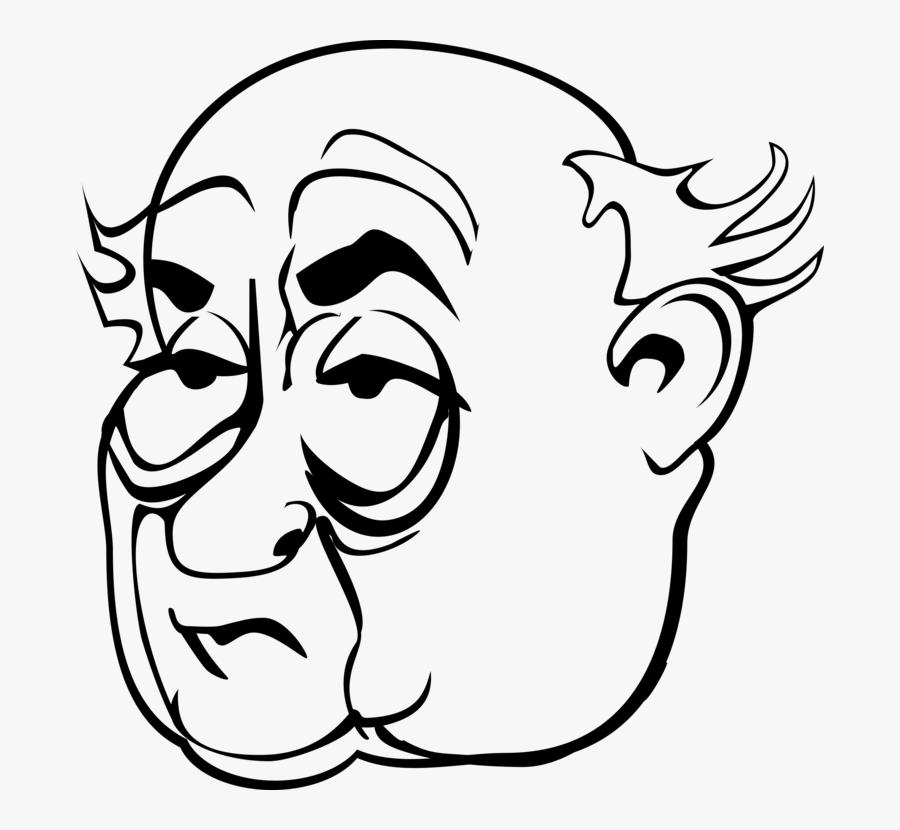 Misogyny Eye Face Woman Cartoon - Old Man Face Cartoon, Transparent Clipart