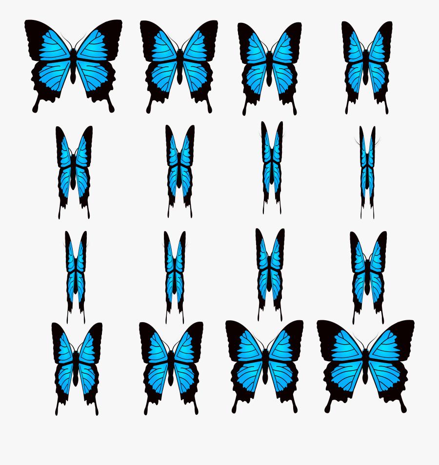 Transparent Animated Butterflies Clipart - Butterfly Sprite, Transparent Clipart