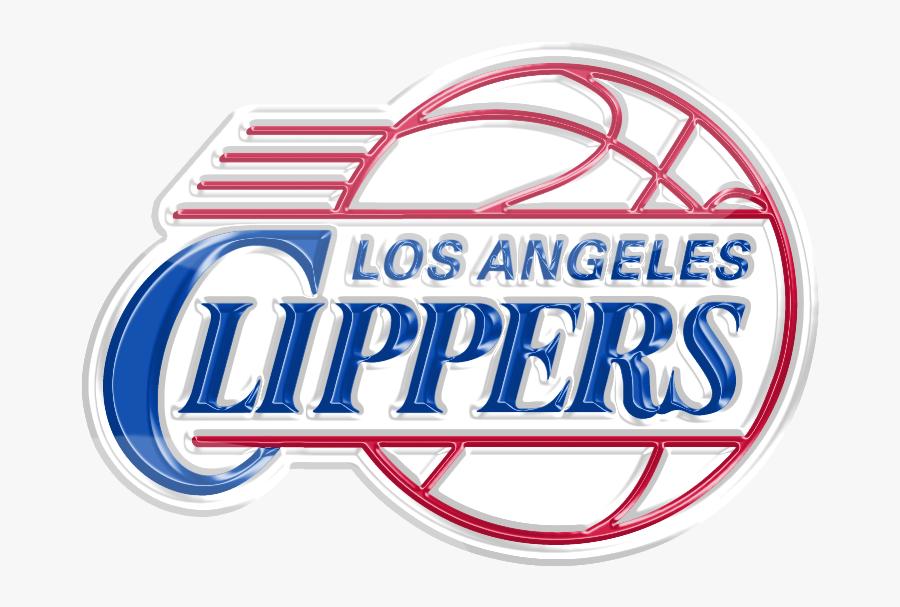Los Angeles Clippers 3d Logo , Transparent Cartoons - Nba La Clippers Logo, Transparent Clipart