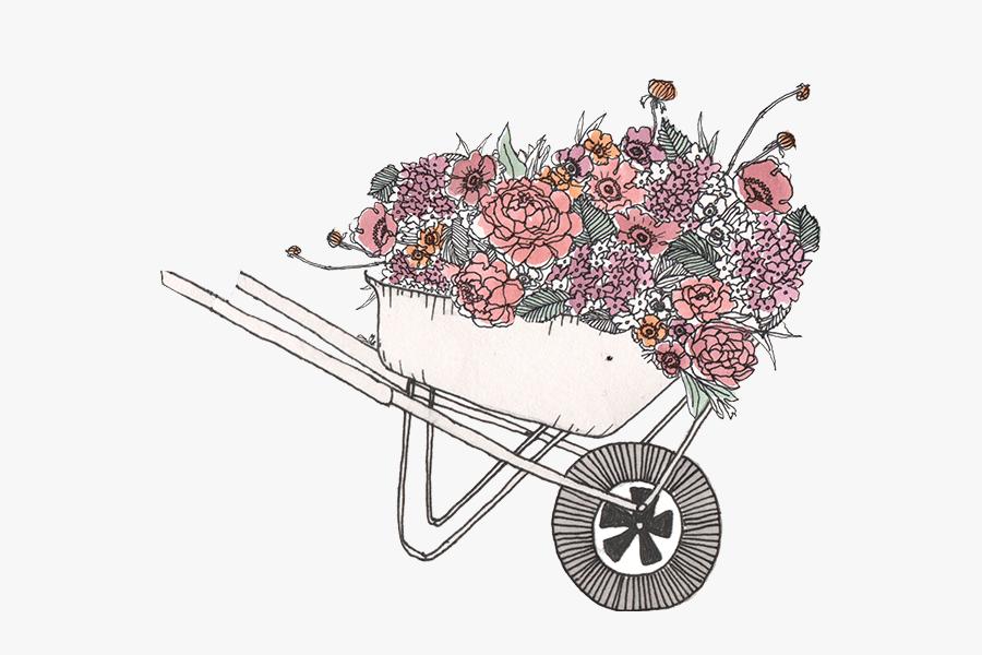 Matilda S Magnolias San - Flower Cart T Png, Transparent Clipart