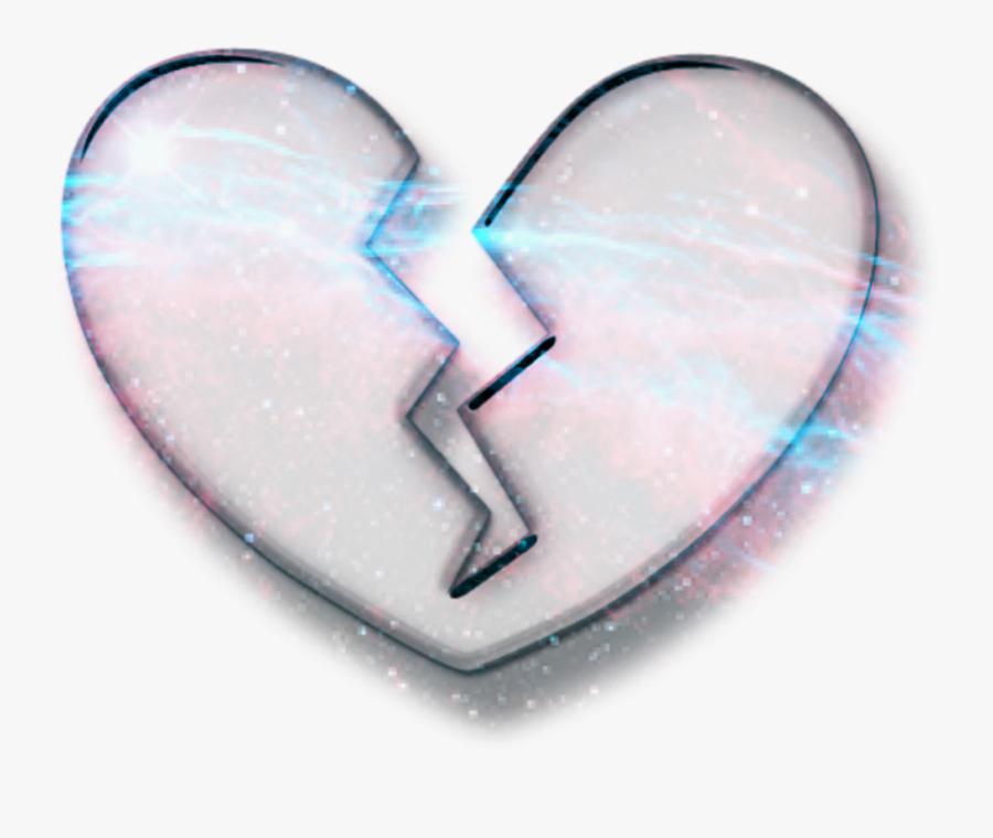 #broken #heart #emoji #galaxy #effect #crown #art - Heart, Transparent Clipart