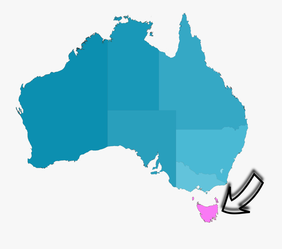 Detailed Tasmania Road Map With Cities And Towns In - Australia Map With Tasmania, Transparent Clipart